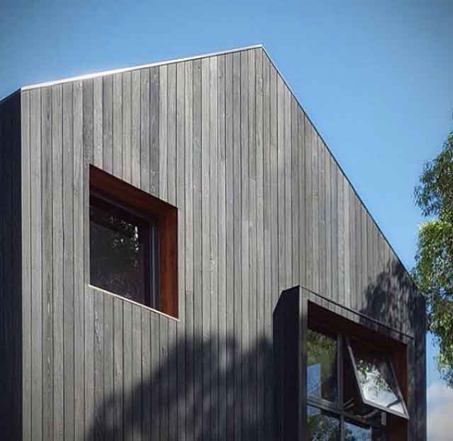 External Charred Timber Cladding Timber Wall Cladding